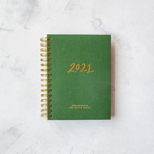 Val Marie Rhythms Yearly Prayer Journal in Green
