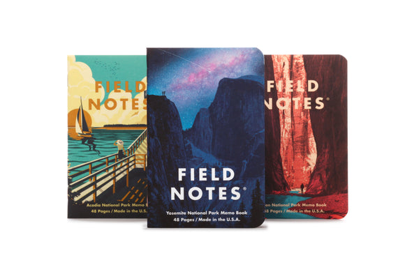 Field Notes Pocket Notebook - National Parks Series A - Yosemite, Acadia, Zion