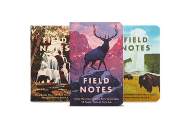 Field Notes Pocket Notebook - National Parks Series C - Rocky, Smoky, Yellowstone