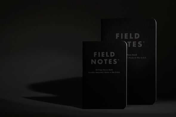Field Notes Pocket Notebook in Pitch Black