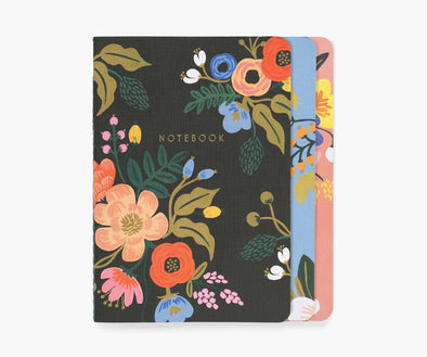 Lively Floral Notebook Trio