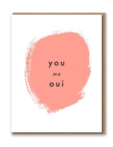 You Me Oui Letterpress Card by 1973