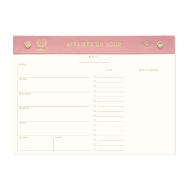 Affaires du Jour Weekly Desk Planner