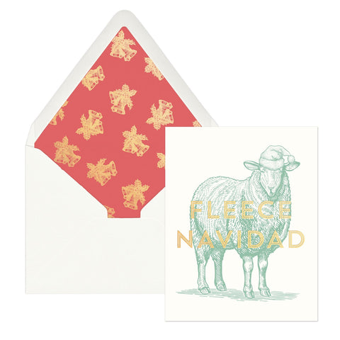 Fleece Navidad Christmas Card - Box of 12