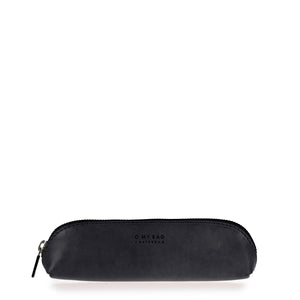 front of black leather pencil case