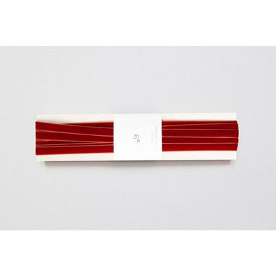 Red Earth Swiss Velvet Ribbon for Wrapping