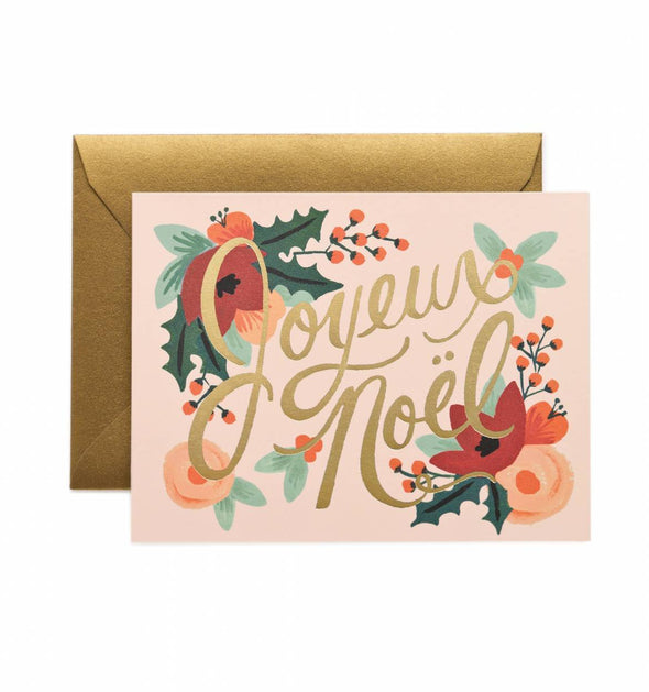 Joyeux Noel Christmas Card by Rifle Paper Co.- Box of 8
