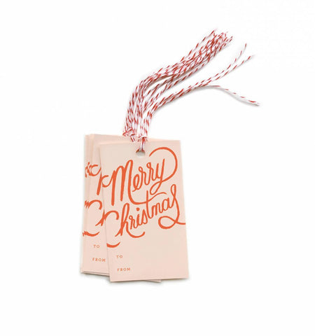 Merry Christmas Gift Tags by Rifle Paper Co.
