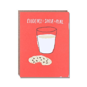 Evidence Santa is Real Christmas Card by Egg Press