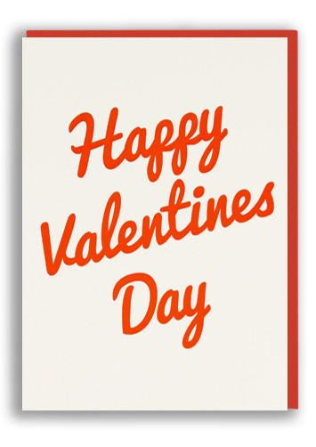 Happy Valentine's Day Script Letterpress Card by 1973
