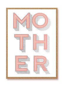 Mother's Day Letterpress Card by 1973