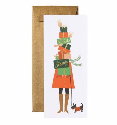 Tis the (Giving!) Season Christmas Card by Rifle Paper Co
