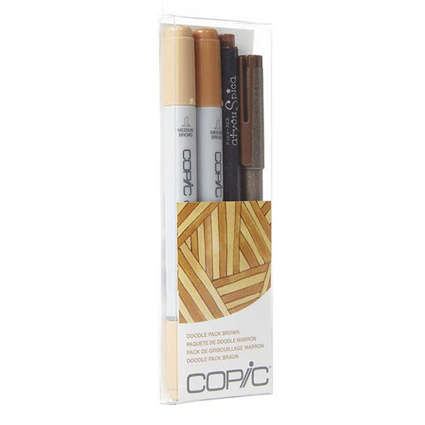 COPIC DOODLE PACK BROWN