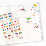 AIUEO Schedule Pop Stickers Birthday