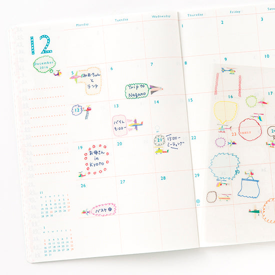 AIUEO Schedule Pop Stickers Balloon 2