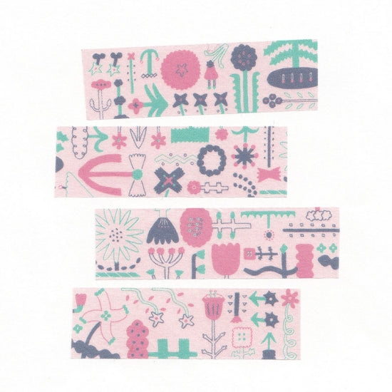 AIUEO Masking Tape Morning Flower