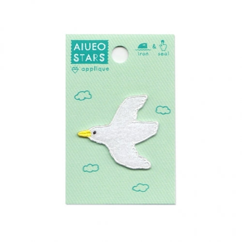AIUEO Applique Stars Bird