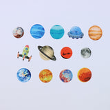 BDA306 Planet WASHI STICKERS
