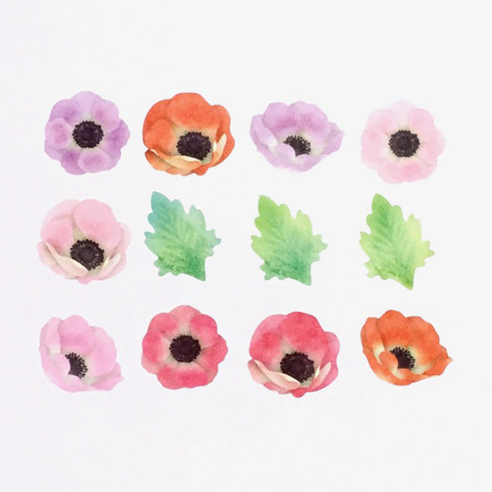 BDA398 Anemone WASHI STICKERS