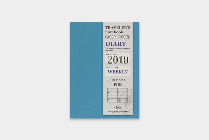 TRAVELER'S notebook Passport Size Refill 2019