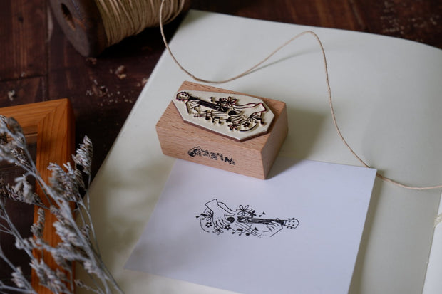 WLEKD Stationery Rubber Stamps - Play Guitar