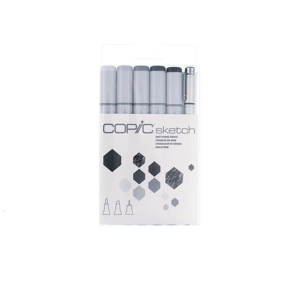 COPIC SKETCH 5 COLS 1 MULTILINER SP GRAY SET