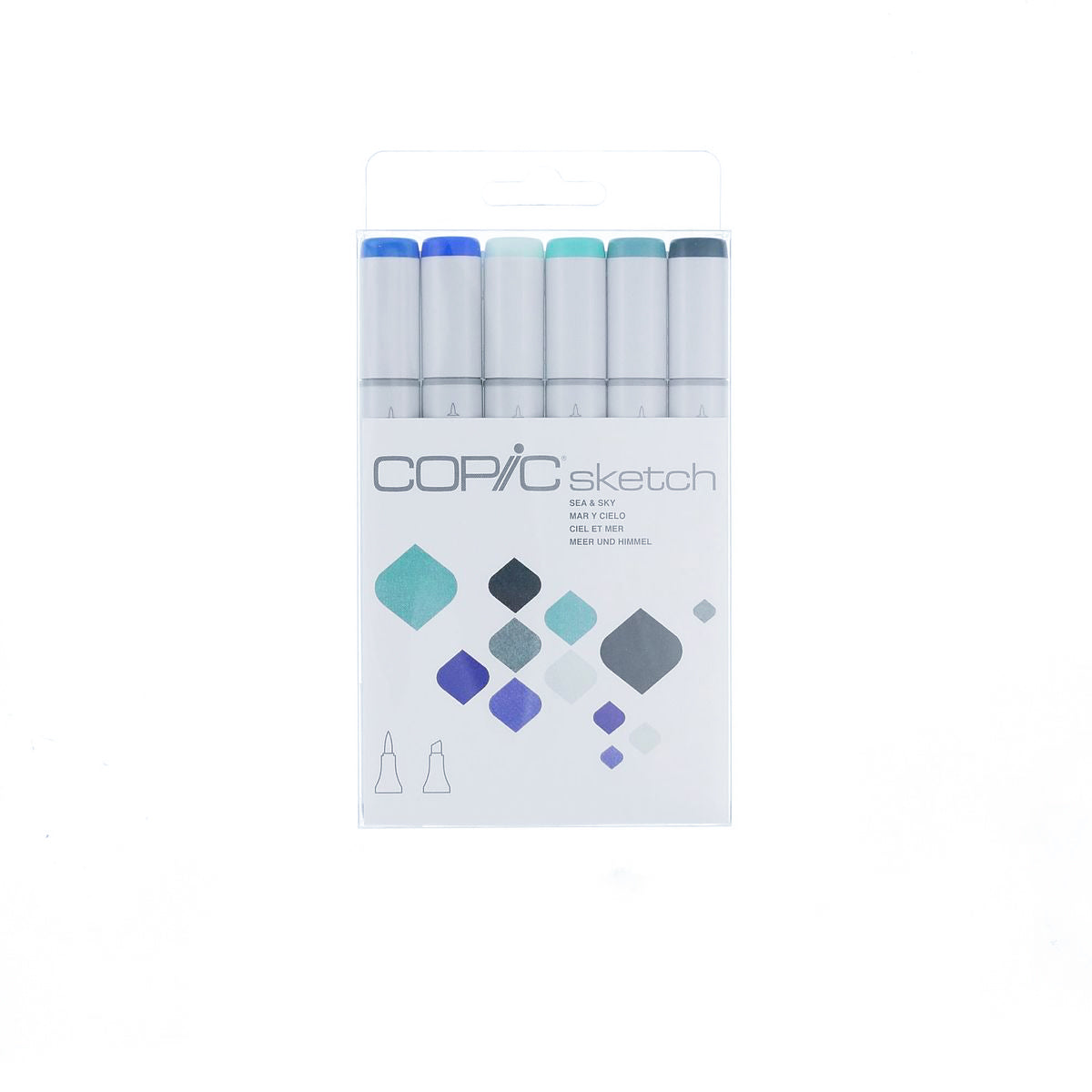 COPIC SKETCH MARKER 06 COLS SET SEA SKY