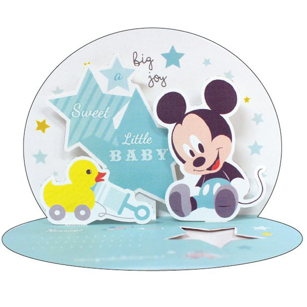 Pop-up Card Baby Mickey