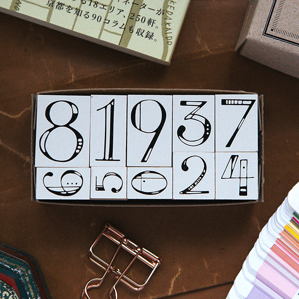 OURS Numbers DIY Rubber Stamp Set-10pcs
