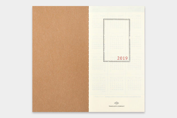 TRAVELER'S notebook 2019 Monthly