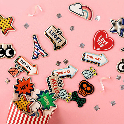 LEATHER Sticker 3P Set