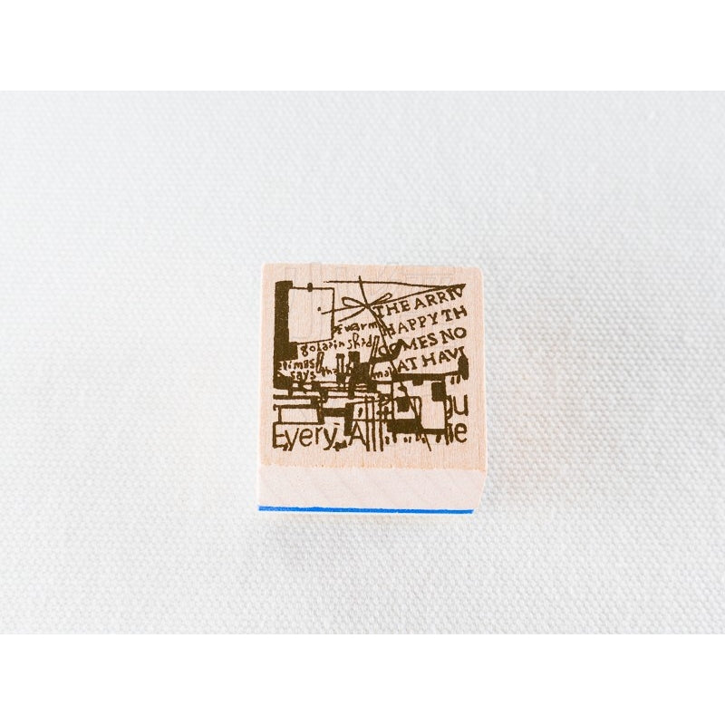 Chamilgarden Cafe-C-8 Wooden Stamp