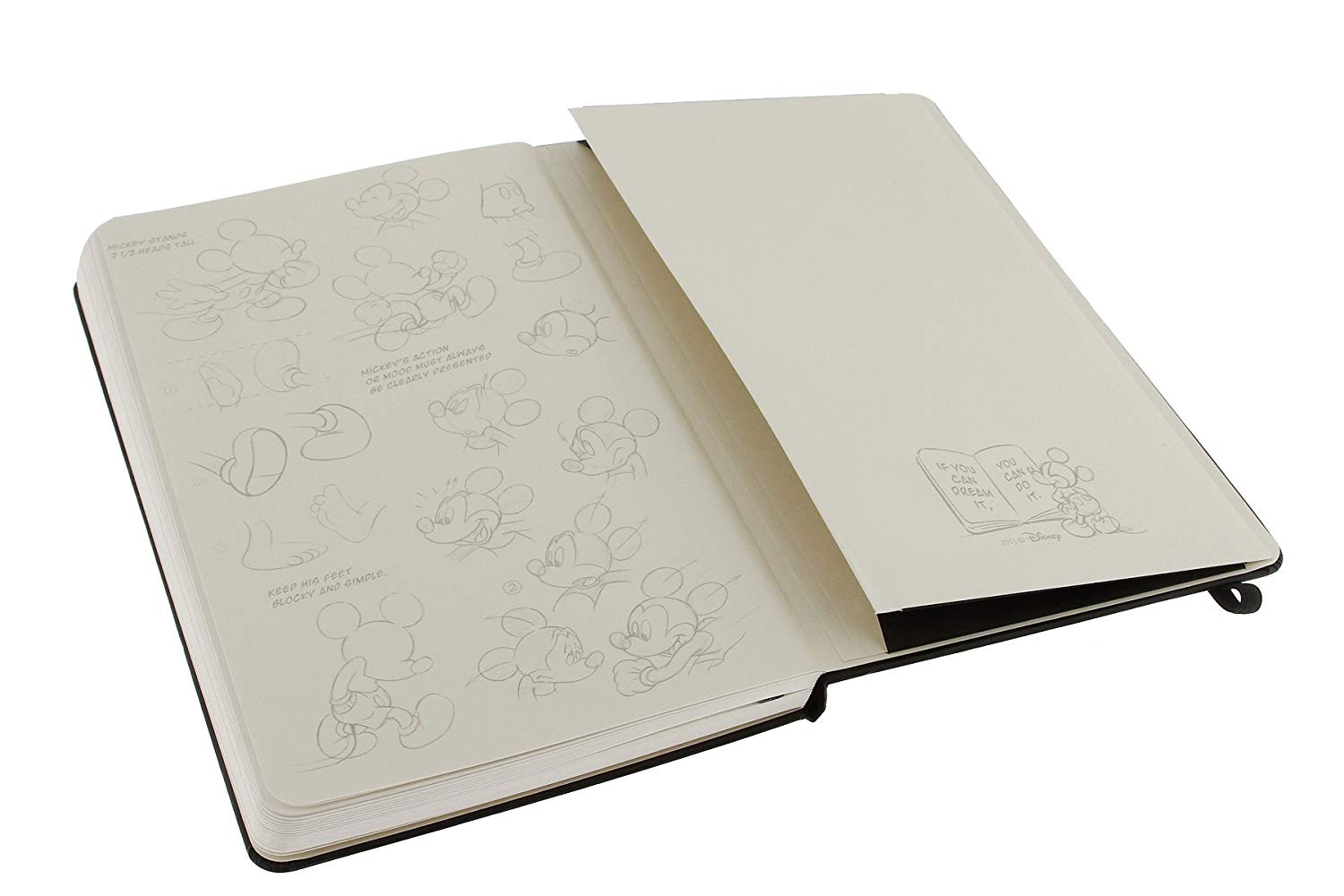 MOLESKINE Mickey Mouse NB L Black-Plain