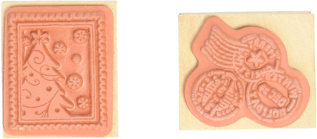 Garlish Wooden Stamp 2pcs/set