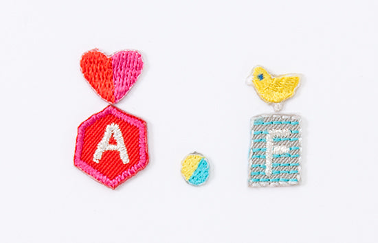 AIUEO Applique Initial HEART