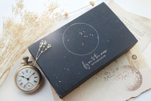 Jieyanow Atelier Rubber Stamp - Fly Me To The Moon