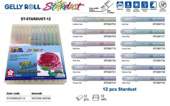 Sakura Gelly Roll Pen Stardust Set-12