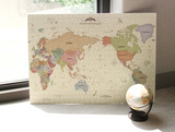 Indigo Puzzle 1000pcs(world map)-Pastel