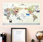 Deco Travel Map(renewal)-Pastel