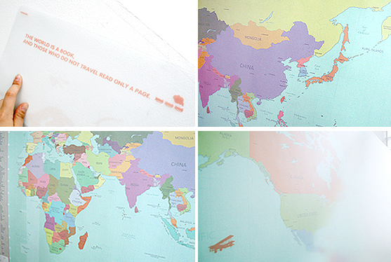 Deco Travel World Map(renewal)-colorful