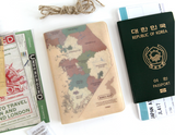 Koreamap Passport Cover-Vintage