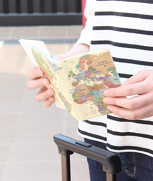 INDIMAP Passport Cover-pastel