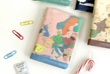 worldmap passport cover-colorful