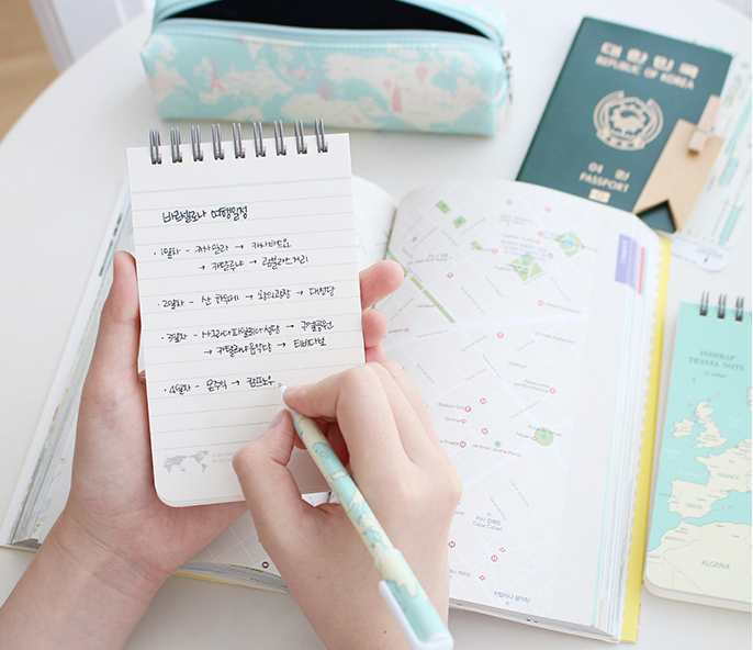 indimap travel note-mint