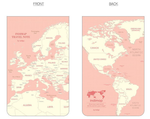 indimap travel note-pink
