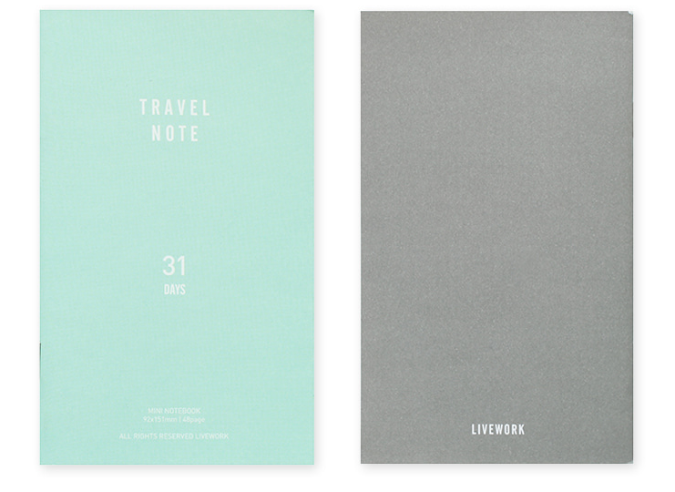 TRAVEL NOTE v.2 - 31DAYS-sky blue