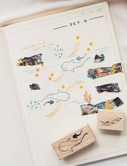 Under The Sea Rubber Stamp Set - 2pcs