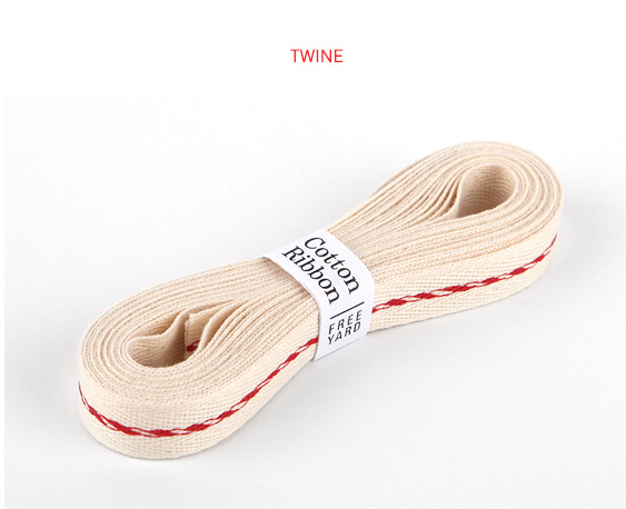 Ribbon-13 Twine Red & White