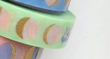 PapergeekCo Washi Tape When in Space Gold Foil