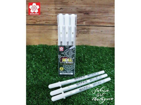 Sakura Gelly Roll Pen Regular White Set-3